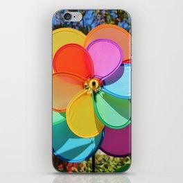 Rainbow Wind Spinner iPhone Skin