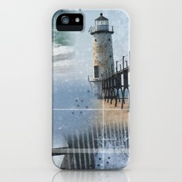 Manistee Lighthouse MI iPhone Case