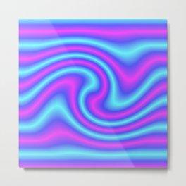 Blue Violet Twist Metal Print