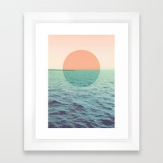 Because the ocean Framed Art Print