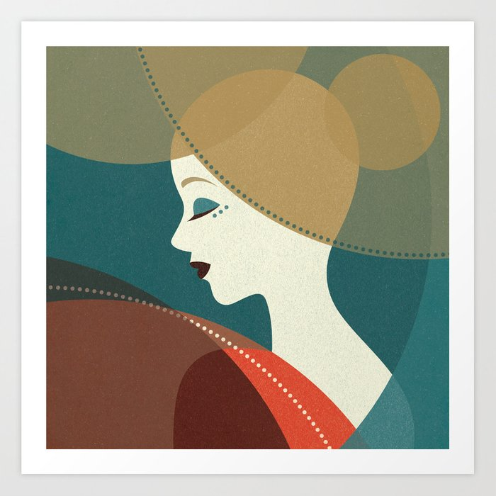 Venn Deco (Part III) Art Print