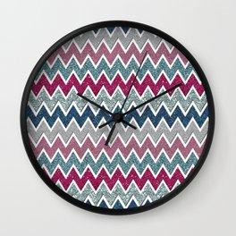glitter chevron Wall Clock