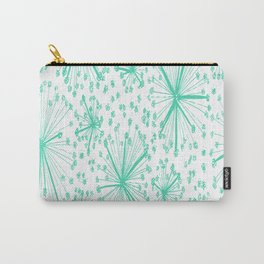 spring floral green flower Carry-All Pouch