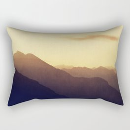Layered Swiss Alps Rectangular Pillow