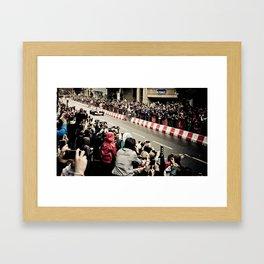 Jenson Button in Manchester Framed Art Print