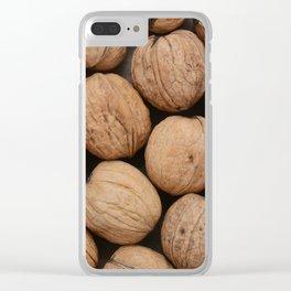 Walnuts Clear iPhone Case