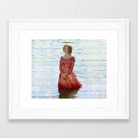 jessica lange Framed Art Prints featuring Jessica Lange - Big Fish by BeeJL