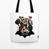 selena Tote Bags featuring the Gotham Sirens by Esteban Barrientos
