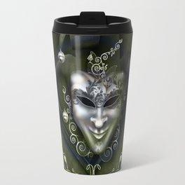 Venician mask with floral elements Travel Mug