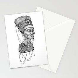 Nefertiti bust dotted Stationery Cards