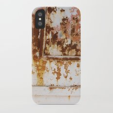 Rust and white paint iPhone X Slim Case