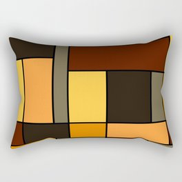 Mondrian Autumn Rectangular Pillow