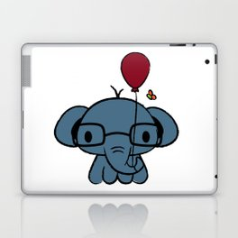 cute elephant with glasses holding a balloon Laptop & iPad Skin