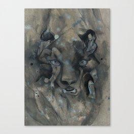 The Black Leopard Canvas Print