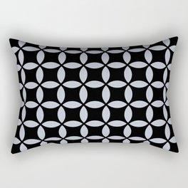 Ticking on Black Rectangular Pillow