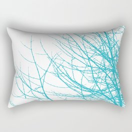 Tree Branches - Turquoise Blue Rectangular Pillow