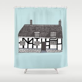 'Coventry' House print Shower Curtain