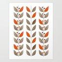 Retro pattern . Autumn leaves . by fuzzyfox85