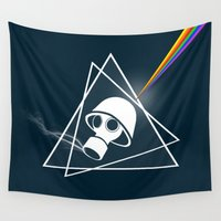 floyd Wall Tapestries featuring pink Floyd  by mark ashkenazi