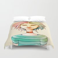 rasta Duvet Covers featuring Rasta Girl by IOSQ
