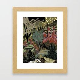 Zen Lynx Framed Art Print