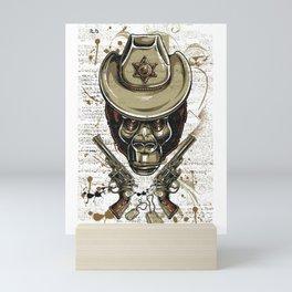Gorilla Sheriff Mini Art Print
