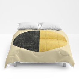 Black and Gold Circle 03 Comforters