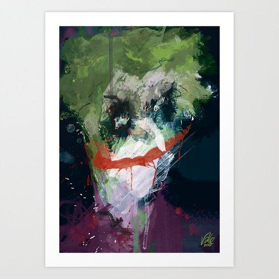 A Joker painting Art Print
