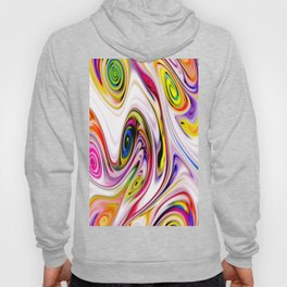 Waves and swirls, abstract, decorative patterns, colorful piece no 16 Hoody