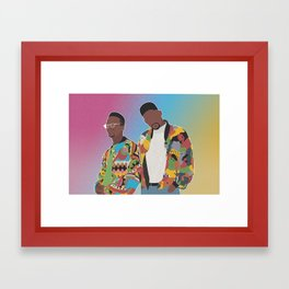 DJ JAZZY JEFF & THE FRESH PRINCE Framed Art Print
