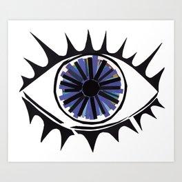 Blue Eye Warding Off Evil Art Print