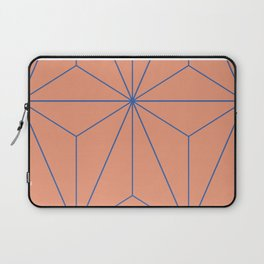 Peacock blue geometrical pyramid Laptop Sleeve