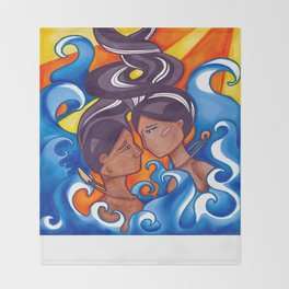 Two Lovers of Guam Throw Blanket