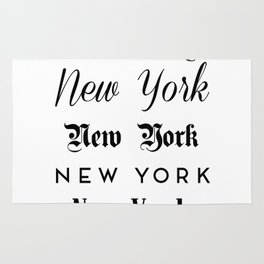 New York City Quote Sign, Digital Download, Calligraphy Text Art, World City Typography Print Rug