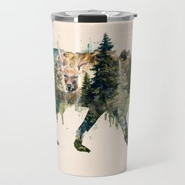Wolf is the Pride of Nature Travel Mug