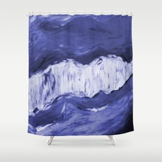 Paint 6 abstract water ocean arctic iceberg nature ocean sea abstract art drip waterfall minimal  Shower Curtain