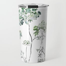 abstract queen ann's lace green Travel Mug