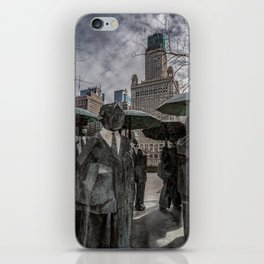 Chicago Sculptures Commuting to Work iPhone Skin