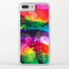 Wild Rainbows Clear iPhone Case