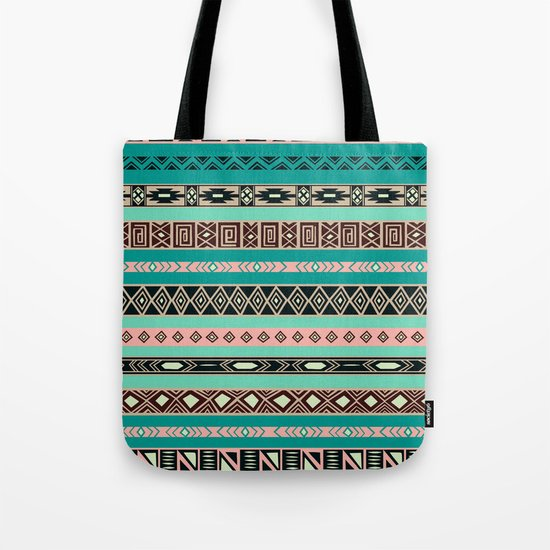 Aztec Tribal Pattern Tote Bag