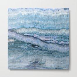 Mystic Stone Aqua Blue Metal Print