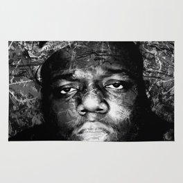 BIGGIE (BLACK & WHITE VERSION) Rug