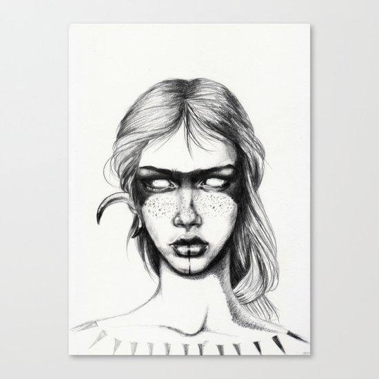 Nocturnal Warrior Sketch Canvas Print