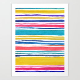 Sunny Day Stripes Art Print