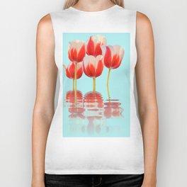 Spring Tulip Flowers Biker Tank