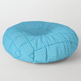 Glama Checks (Blues) Floor Pillow