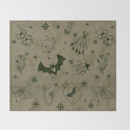 Magic symbols Throw Blanket
