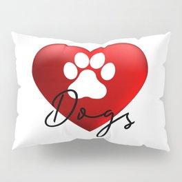 Love Dogs Pillow Sham