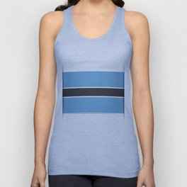 Flag of Botswana. The slit in the paper with shadows.  Unisex Tank Top