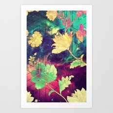 GALAXY FLOWERS - for iphone Art Print